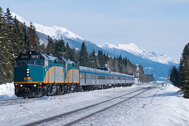 Winter Rail Journeys in Canada