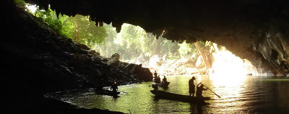 Laos' Famous Limestone Beauty Shines Brightly over at Kong Lor Caves